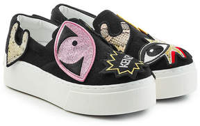 Kenzo Slip-On Sneakers with Patches