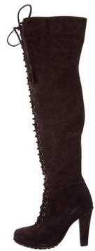 AllSaints Suede Over-The-Knee Boots