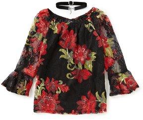 I.N. Girl Big Girls 7-16 Lace Floral Top