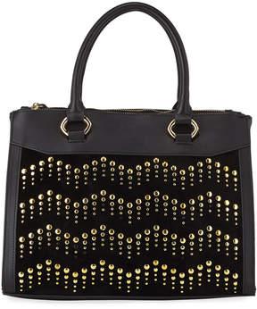 Neiman Marcus Berlin Zigzag Studded Satchel Bag