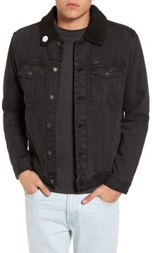 Obey Men's Off The Chain Fleece Denim Jacket