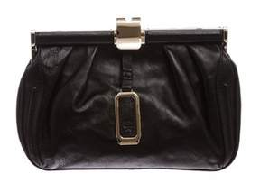 MCM Pre Owned Black Leather Small Clutch.