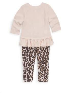 Splendid Baby Girl's Leopard Printed Top & Leggings Set