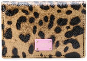 Dolce & Gabbana leopard print wallet - MULTICOLOUR - STYLE