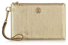 Roberto Cavalli Women's Gold Leather Clutch.