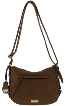 Jessica Simpson Womens Roxanne Faux Leather Logo Shoulder Handbag