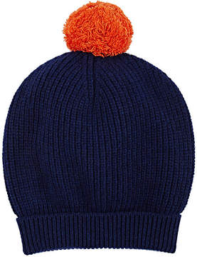 Barneys New York MEN'S POM-POM-EMBELLISHED WOOL-CASHMERE BEANIE