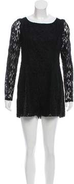 ALICE by Temperley Lace Long-Sleeve Romper