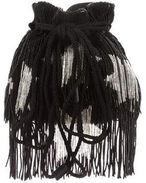 Saint Laurent Beaded Fringe Bucket Bag