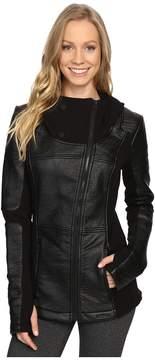 Blanc Noir Asymmetric Hoodie Moto Women's Sweater