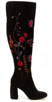 Nanette Lepore Nanette Lisette Embroidered Over-the-Knee Boot