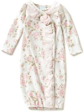 Edgehill Collection Baby Girls Preemie-6 Months Floral-Print Ruffled Gown
