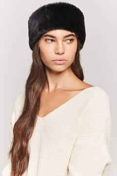 Forever 21 Faux Fur Headwrap