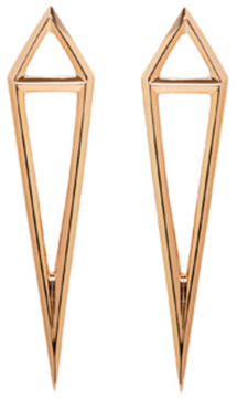 Eva Fehren Rose Gold Dagger Stud Earrings