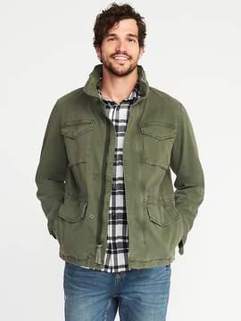 Old Navy Garment-Dyed Built-In-Flex Twill Jacket for Men