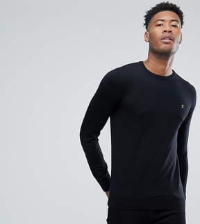 Farah TALL Mullen Slim Fit Merino Sweater in Black