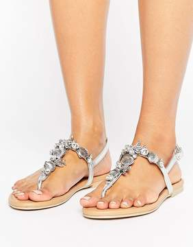 Faith Jenson Embellished Flat Sandals