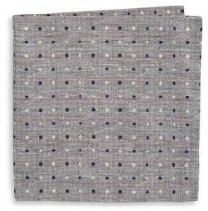 Black & Brown Black Brown Reversible Patterned Silk-Blend Pocket Square