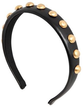 Leather Headband W/ Ball Studs