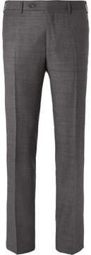 Canali Grey Venezia Slim-Fit Super 130s Wool-Sharkskin Suit Trousers