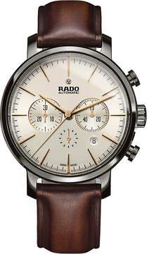 Rado R14076106 DiaMaster ceramic and leather watch