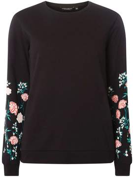 Dorothy Perkins Black Floral Print Sleeve Jumper