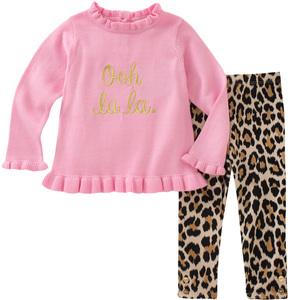 Kate Spade Ooh La La Cotton Top & Leopard Leggings Set