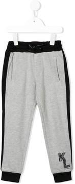 Karl Lagerfeld logo print jogging trousers