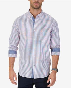 Nautica Men's Classic-Fit Coral Plaid Shirt