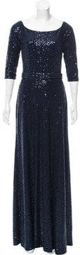 David Meister Sequin-Embellished Evening Dress