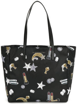 Marc Jacobs shooting star patch shopper tote - BLACK - STYLE