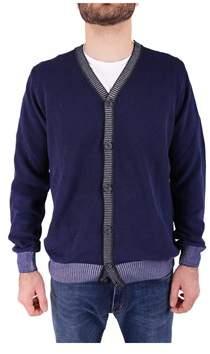 Trussardi Men's Blue Wool Cardigan.