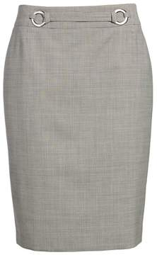 BOSS Vavilla Stretch Wool Suit Skirt
