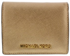 Michael Kors Womens Metallic Leather ID Wallet - PALE GOLD - STYLE