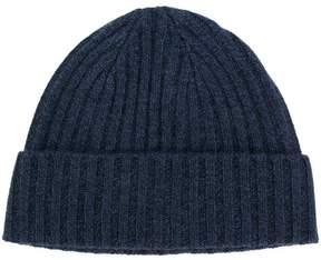 N.Peal chunky rib knit beanie hat