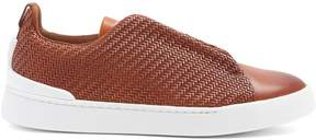 Ermenegildo Zegna Triple Stitch low-top leather trainers