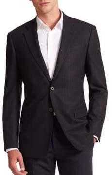Armani Collezioni Chevron Wool-Blend Sportcoat