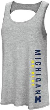 Colosseum Women's Michigan Wolverines Twisted Back Tank Top