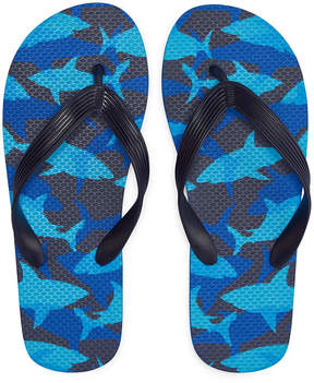 Arizona Shark Print Flip Flops - Boys 4-20