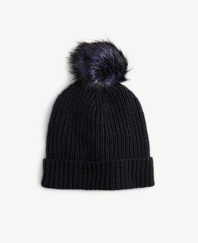 Ann Taylor Pom Pom Knit Hat