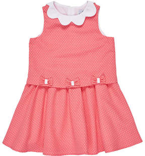 Florence Eiseman Sleeveless Collared Popover Dress, Pink, Size 4-6X