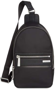 Calvin Klein Men's Leather-Trimmed Sling Bag