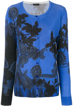 Etro patterned round neck cardigan