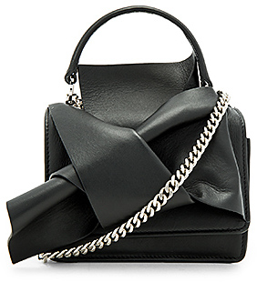 No. 21 Knotted Bag in Black.