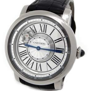 Cartier Rotonde de Astrotourbillon 18 kt White Gold Men's Watch