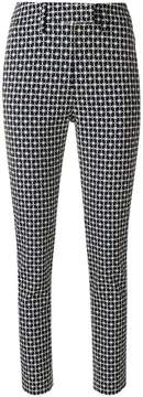 Dondup cropped patterned trousers