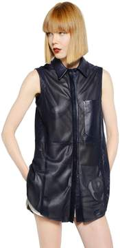 Drome Laser Cut Light Nappa Leather Shirt