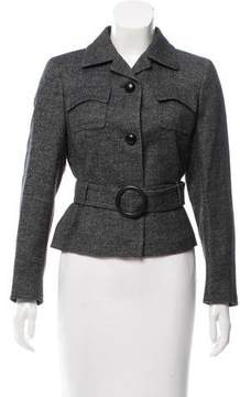 Akris Belted Button-Up Jacket