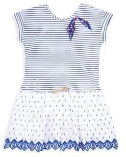 Catimini Little Girl's & Girl's Striped Fooler Dress