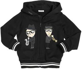 Dolce & Gabbana Music Designers Cotton Hooded Sweatshirt